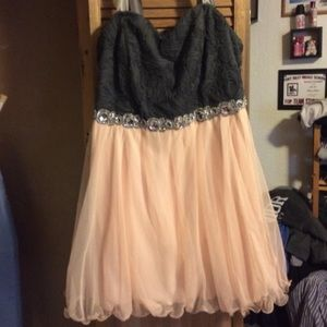 Short plus size formal/prom dress